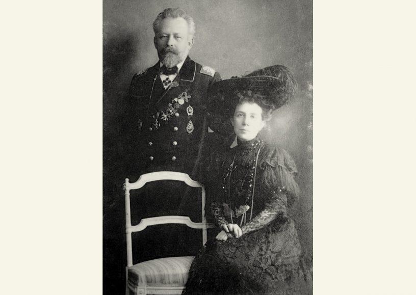Статский советник М.Игнатьев с супругой П.Александровой-Игнатьевой